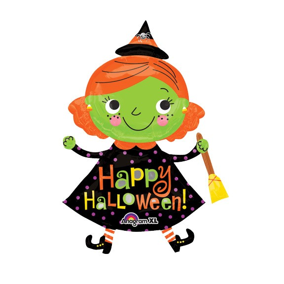 Cute Witch<br>Mylar Balloon