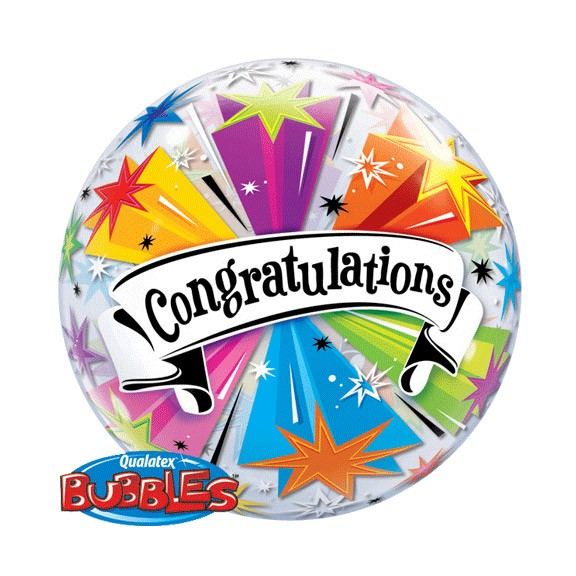 Congratulations22in Bubble Balloon