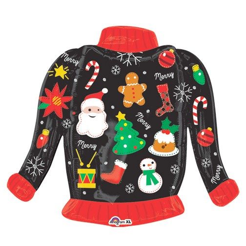 Ugly Christmas Sweater (31in Mylar Balloon)