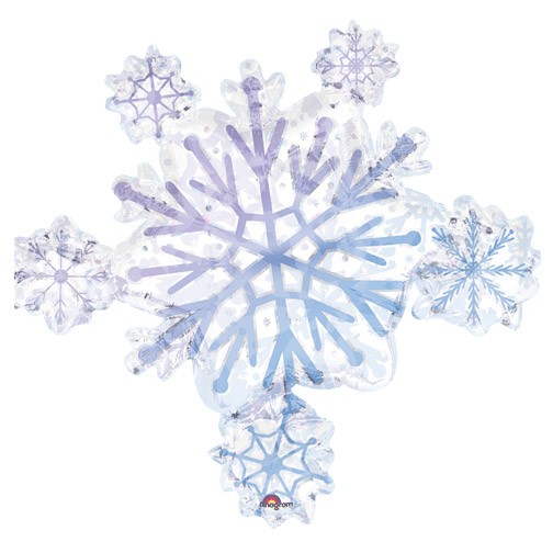 Prismatic Snowflake Cluster (32in Mylar Balloon)