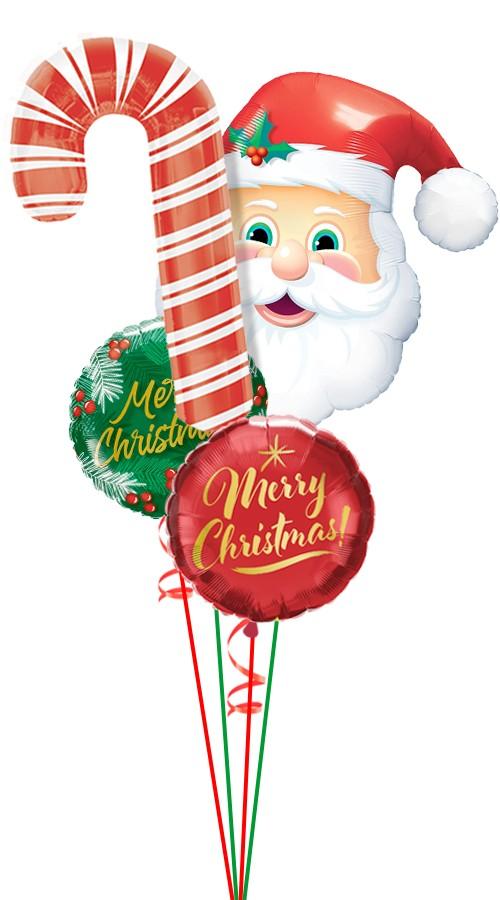 Santa candy cane balloon bouquet balloons