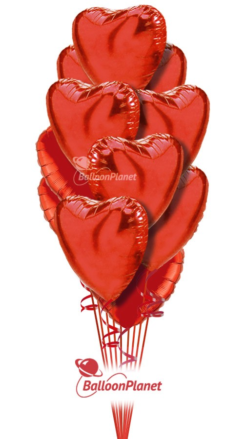 Valentineu0027s Hearts Balloon Bouquet (12 Heart Balloons) Item VDAY 1802$59.95  USD To Order Or For Pricing And Availability Enter Delivery Date And  Location.