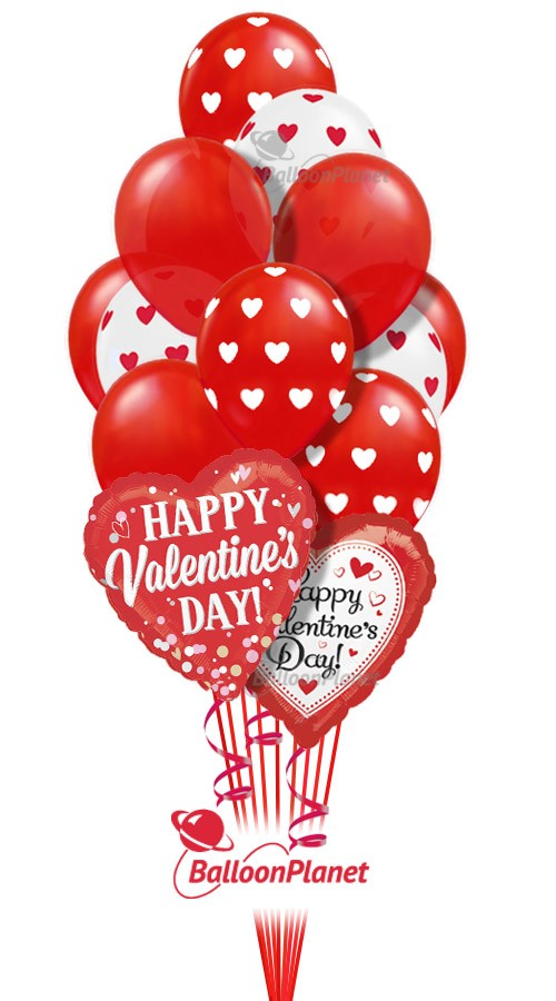 Valentineu0027s Balloon Bouquet (15 Balloons) Item VDAY 1804$55.95 USD To Order  Or For Pricing And Availability Enter Delivery Date And Location.