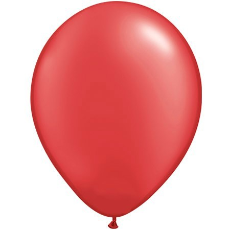 Plain Ruby Red<br>11in Latex Balloon w/HF<br>Available Year-round