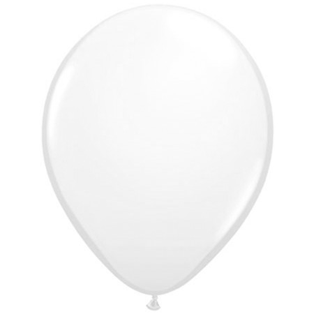 Plain White 11in Latex Balloon w/HF Available Year-round