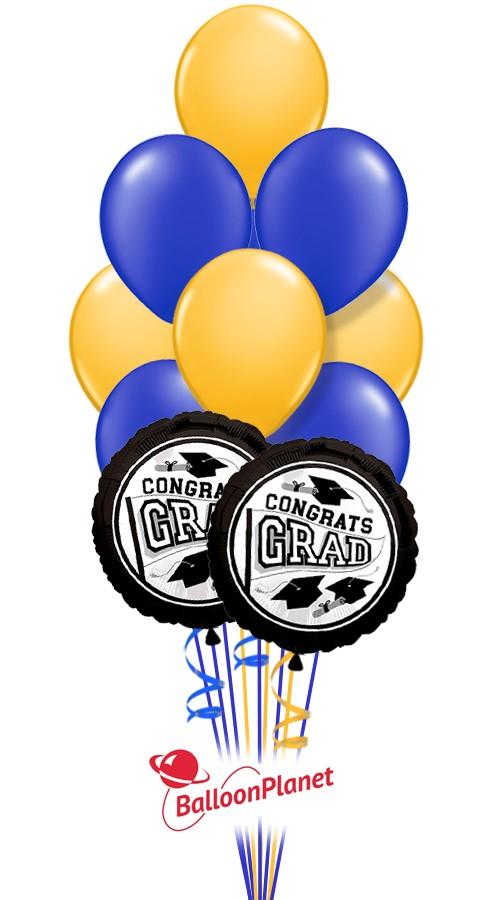 School Colors Graduation Balloon Bouquet