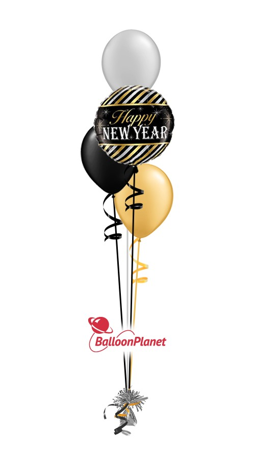 New Year'sBalloon Centerpiece (4 Balloons)