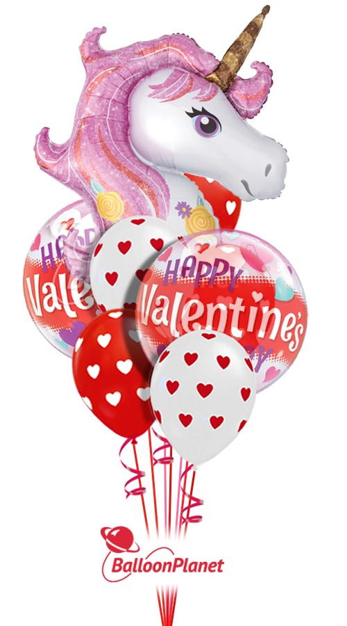 Magical Unicorn Mix CValentine's Balloon Bouquet10 BalloonsZ 234