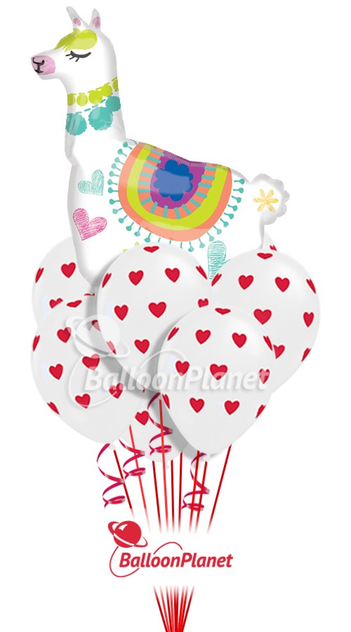 Llama in the CloudsValentine's Balloon Bouquet14 BalloonsZ 234