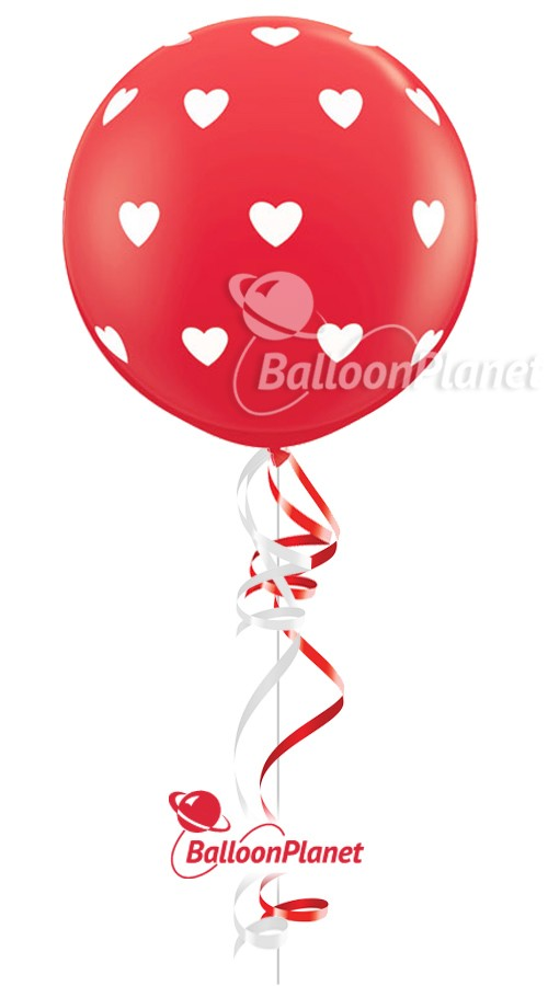 Big Red w/HeartsValentine's Balloon1 BalloonZ 34