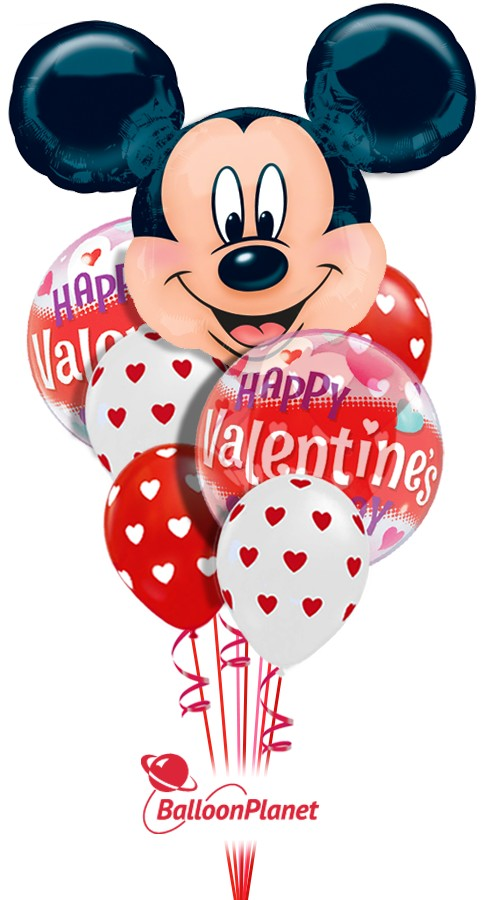Mickey in the CloudsValentine's Balloon Bouquet14 BalloonsZ 234