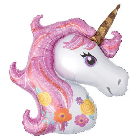 Magical Unicorn Head33in Mylar Balloon