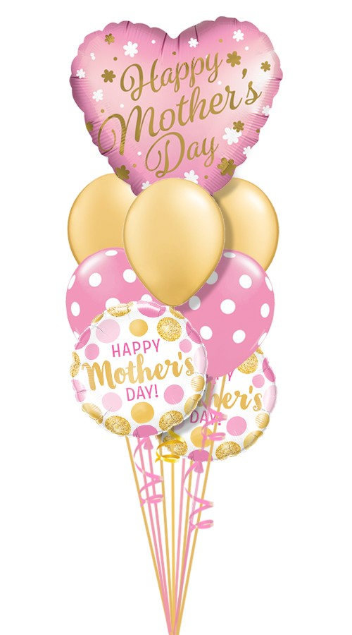 Mother's DaySatin HeartBalloon Bouquet (9 Balloons)