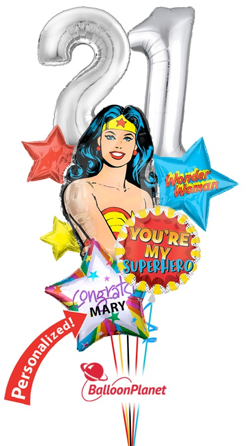 Wonder Woman of 2019Balloon BouquetNot Personalized (5 Balloons)