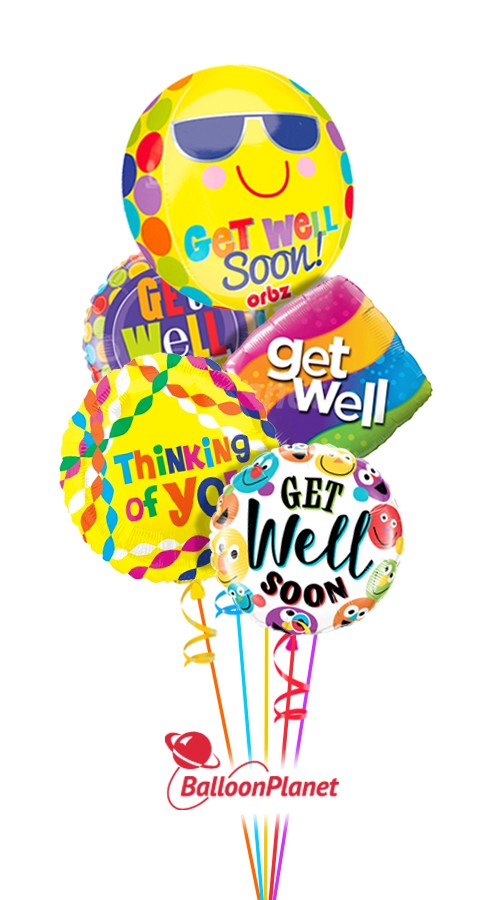 Get Well Expressions IIGet Well Balloon Bouquet (5 Balloons)