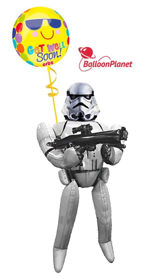 Storm Trooper AirwalkerGet Well Balloon Bouquet (2 Balloons)