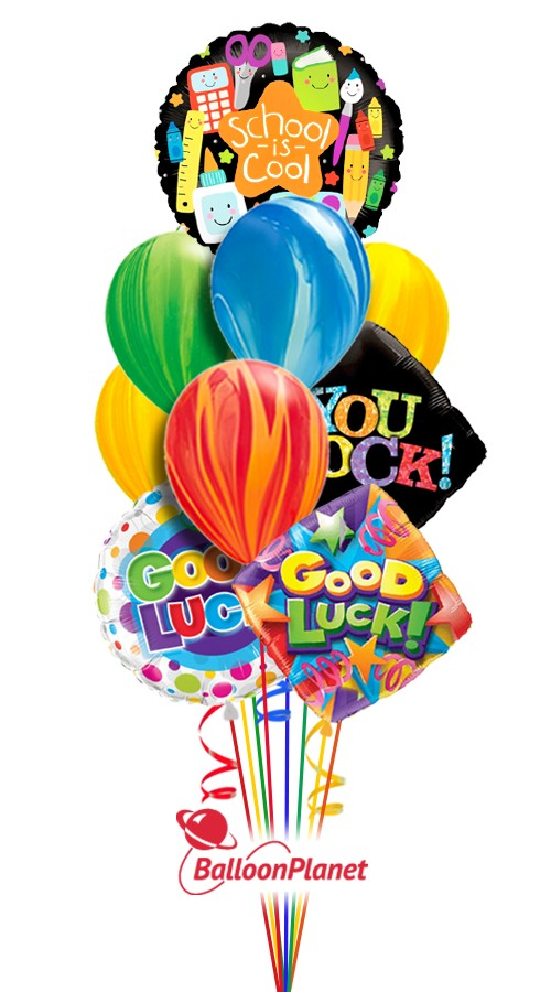 You Rock Swirls Back to School Balloon Bouquet (10 Balloons)