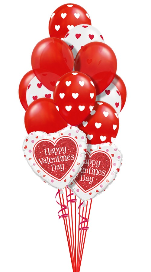 Hearts Around MixBalloon Bouquet (14 Balloons)