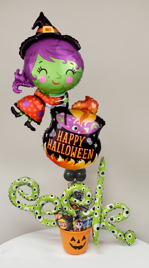 Halloween CandyWitch and CauldronBalloon Package