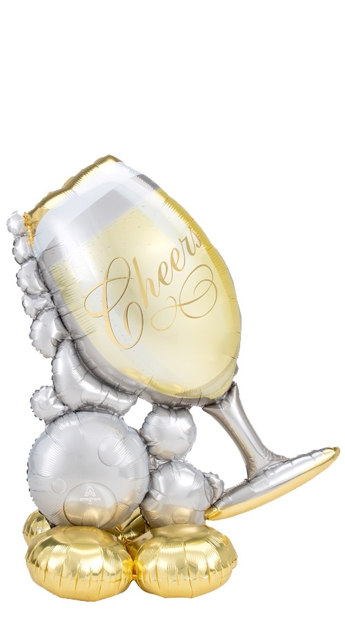 AirloonzChampagne Glass & BubblesBalloon Display