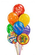 Airspray Birthday Balloon Bouquet (9 Balloons) delivered in Santa Ana