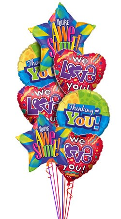 We Love You Balloon Bouquet (7 Balloons)