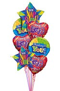 We Love You Balloon Bouquet (7 Balloons) delivered in Buffalo