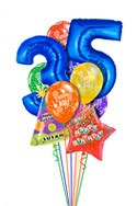 Jumbo Age Balloon Bouquet (12 Balloons) delivered in Plano