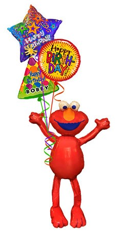 Elmo Airwalker Balloon Bouquet (4 Balloons)
