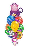 Twisty Monkey Balloon Bouquet (9 Balloons) delivered in Santa Ana