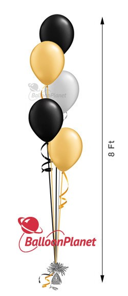 11in Balloon Centerpiece Select Your Colors Cascading 5 (5 Latex)