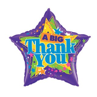 Thank You Balloon (Designs/shapes vary)