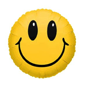 Smiley Face Balloon (18in Mylar Round)