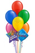 Jewel Tone Jumbo Balloon Bouquet (9 Balloons) delivered in Plano