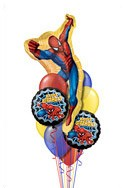 Spiderman Birthday Balloon Bouquet (10 Balloons) delivered in Long Beach