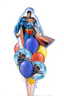 Superman Birthday Balloon Bouquet (10 Balloons) delivered in Portland