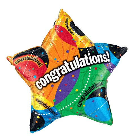 Congrats Balloon (20in Mylar Star)