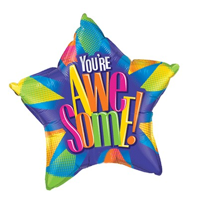 You're Awesome Balloon (20in Mylar Star)