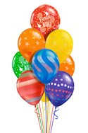 Airspray Birthday Balloon Bouquet (10 Balloons) delivered in Arlington