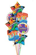 Retirement Balloon Bouquet (7 Balloons) delivered in Glendale