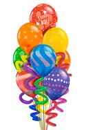 Twisty Birthday Balloon Bouquet (10 Balloons) delivered in Toronto