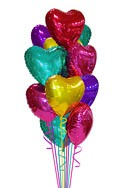 Jewel Hearts Balloon Bouquet (12 Balloons) delivery in Den Haag