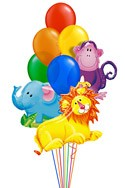 Jungle Pals Balloon Bouquet (10 Balloons) delivery in Sydney
