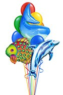 Ocean Friends Balloon Bouquet (10 Balloons) delivery in New Delhi