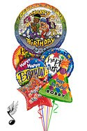 Singing Hip Hop Balloon Bouquet (6 Balloons) delivered in Colorado Springs