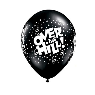 Over The Hill 11in Latex (w/Hi-Float) (Price Per Balloon)