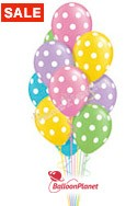 Easter Polka Dots Balloon Bouquet (12 Balloons) delivery in North Las Vegas