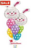 Bunnies & Dots Balloon Bouquet (9 Balloons) delivery in Jacksonville
