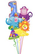 First Birthday Balloon Bouquet (5 Balloons) delivered in Glendale