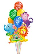 Jungle Pals Balloon Bouquet (10 Balloons) delivered in Rochester